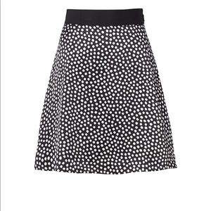 Authentic Kate Spade Spot Print Silk Skirt Size 4